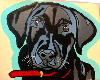 Custom Pop Art Pet Portrait