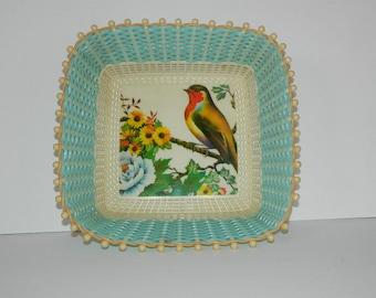 Vintage 60's Plastona Bird Basket Made in Greece