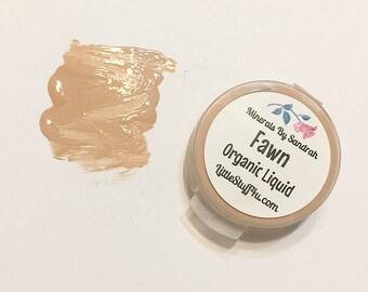 FAWN Liquid ORGANIC Foundation - Natural Makeup Vegan Gluten Free - Serum Liquid Mineral Makeup