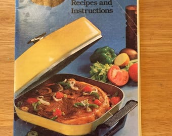 Vintage 1978 Sunbeam Frypan Recipes And Instructions Booklet,  1978 Sunbeam Electric Frying Pan Manual and Cookbook