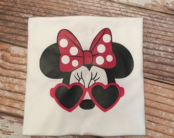 Minnie Mouse Heart Glasses shirt