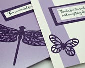 RESERVED FOR JOY: Appreciation for a Friend Card with Bath and Body Gift Enclosed- Bath Salt Card Insert- One of a Kind