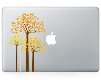 Macbook 13 inch decal sticker fenel and apple art for Apple Laptop