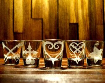 Kingdom Hearts Shot Glass Set of 5