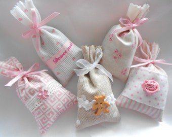 5 mini Lavender sachets of the Provence Collection little bear - Little Bear Made in France