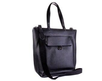 Leather Bag / Leather Handbag / Leather Messenger / Leather Shoulder Bag / Black Leather Bag / Black Leather Handbag / Leather Messenger