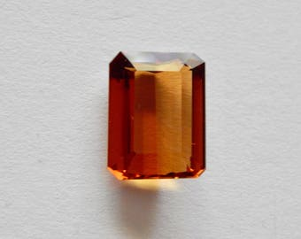 Citrine Emerald Cut Gemstone for Setting