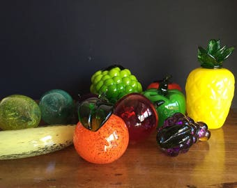Vintage Glass Fruit