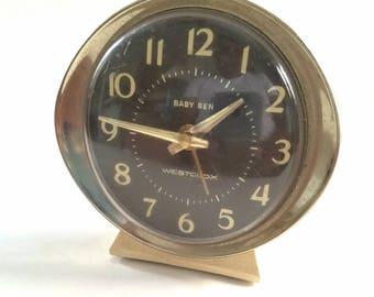 Vintage Metal Westclox Baby Ben Wind-Up Alarm Clock
