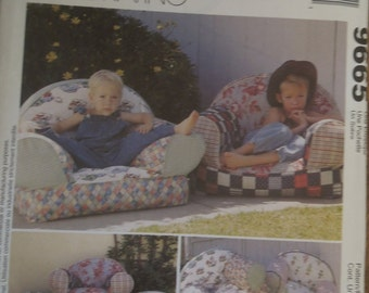 McCalls 9665, cushions, childrens, chairs, pillows, UNCUT sewing pattern, craft supplies