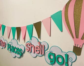 """Oh the places she'll go"""" banner"""