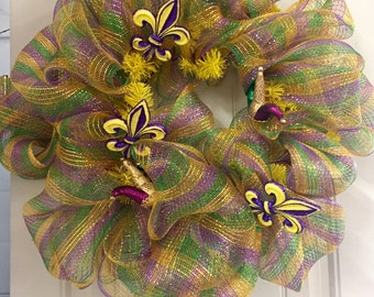 Mardi Gras Jester Hat Wreath