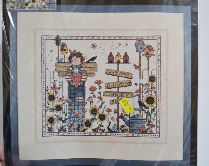 Dimensions Tweet Tidings Counted Cross Stitch Kit  Country Theme Bird Houses Sun Flowers Deb Strain PanchosPorch