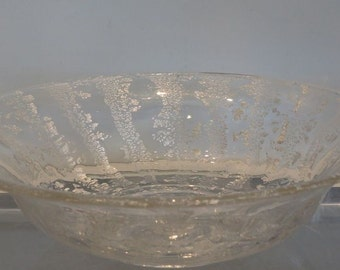 Unusual Vintage Murano Italian Art Glass Silverina Bowl