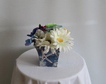 Beach themed floral arrangement centerpiece