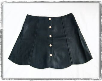 Vintage scallop edge A-line mini skirt size UK8/S