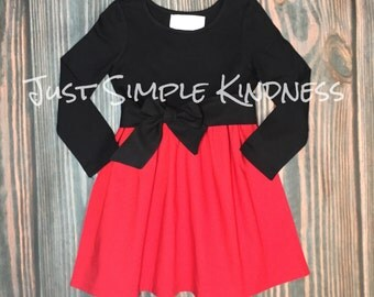 Girls Christmas Dress, Red Black Dress, Girls Christmas Outfit, Christmas Dress, Toddler Dresses, Girls Dresses, Dresses, Girls' Clothing