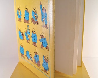 Vintage Paddington Bear Scrapbook. Yellow and Blue with Blank Paper Pages. Unused with Original Box. 1970's Photo Album. Baby Shower Gift.