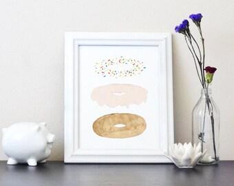 Donut Explode Print