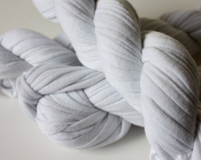Undyed 100% Cotton T-shirt Yarn 95-100g Skeins