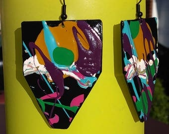 Upcycled, lightweight, one of a kind earrings