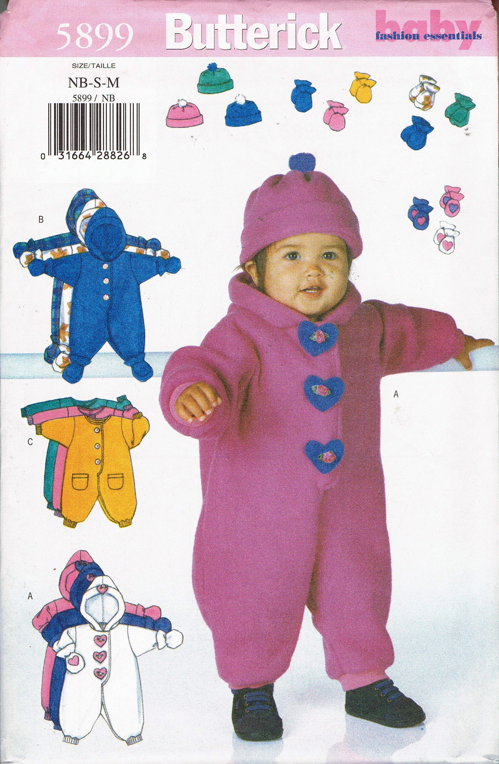 Infants nb med fleece onsie sewing pattern baby bunting pattern sold by busybeaverboutique jeuxipadfo Image collections
