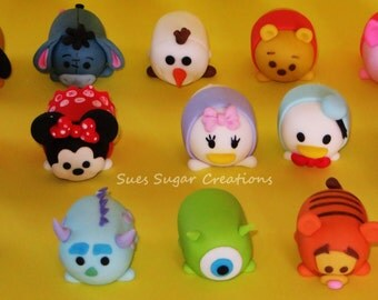 Tsum Tsums customized edible fondant cupcake toppers
