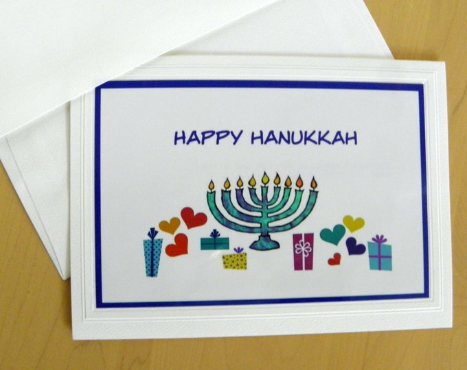 HANUKKAH Holiday Cards - 12 Cards and Envelopes AND Free Shipping too!