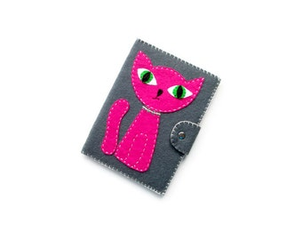 Cat Kindle cover, Paperwhite case, blue cat kindle cover, pink  cat ebook cover, ereader case, Christmas gifts