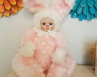 Marie Osmond Rock a bye Musical Bunny Doll with COA