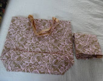 SET OF TWO  Market Bags / Shopping Bag / Grocery Bag / Fabric Bag / Tote Bag