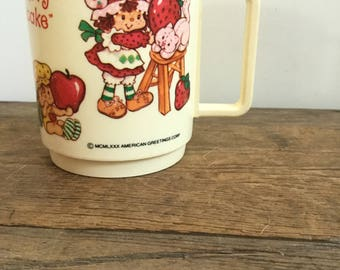 Vintage Strawberry Shortcake Deka 1980 Drinking Cup