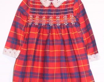 Vintage baby dress.Red, (no tag) Dress for 2T