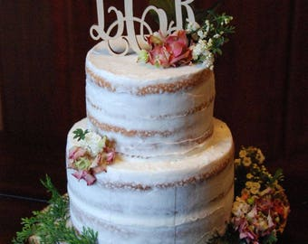 Personalized Cake Topper, Wooden Cake Topper, Monogram Wooden Cake Topper, Wedding Cake Topper, Cake Topper, Rustic Cake Topper, Custom