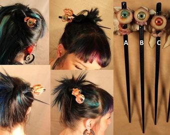 Awesome Eyeball Hair Chopsticks - 1 Chopstick