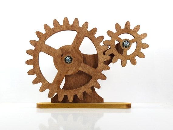 Mechanical Home Decor Kinetic Decor For Desk Rotating Wooden