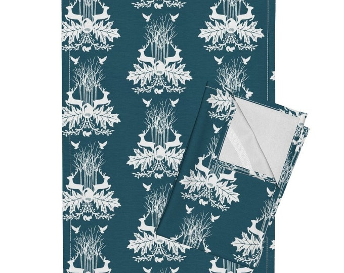 Woodland Crest - Dark Teal Tea Towel