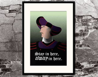 Judge Claude Frollo \ The Hunchback of Notre Dame \ Disney Villains Inspired - Movie Art Poster Art Deco Art Nouveau Home Decor