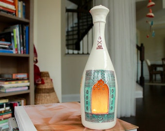 Happiness Often Sneaks - Bottle Lantern