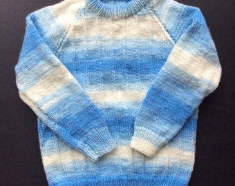 "Hand knitted children's sweaters, chest size 20"", 24"" toddler knit sweater knitwear kids clothes"