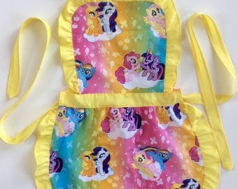 Kids Handmade Apron, My Little Pony, Play Apron, Child's Apron, Toddler's Apron, Kid's Party Apron, Little Girl Apron, Kids Pinny