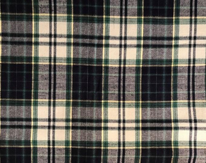 Single Brushed Cotton Plaid Fabric