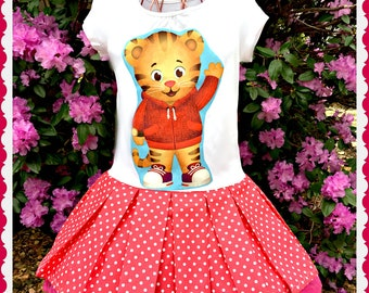 girls Daniel Tiger dress 2T 3T 4T 5T 4/5 6/6X 7/8 10/12 14/16 ready to ship