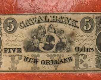 Canal Bank Note of New Orleans