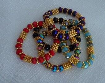 Gold Stretch Bracelet,Red Stretch Bracelet,Blue Stretch Bracelet,Purple Stretch,Black Stretch Bracelet,Rainbow Stretch Bracelet