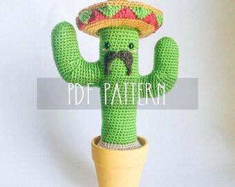 PDF PATTERN - EN -Mexican Cactus (amigurumi crochet pattern)