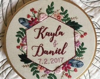 Cumberland Wedding Embroidery Hoop