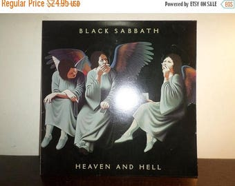 Save 30% Today Vintage 1980 Vinyl LP Record Heaven and Hell Black Sabbath Very Good Condition 8314