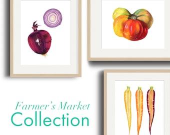 Farmer's Market Art Print Collection