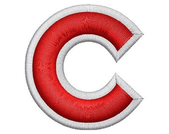 Letter C 3D Puff Embroidery Design